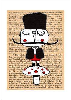 LIMITED EDITION Wall art Mustache Folk art by mohadesign on Etsy