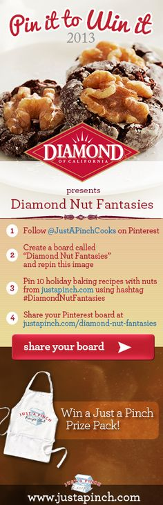 For more information visit justapinch.com/diamond-nut-fantasies Nut Recipes, Baking Recipes, What Recipe, Party Mix, Love Eat, Holiday Baking, Autumn, Fall, Popcorn