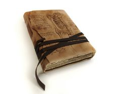 Anatomy Drawing Hand Painted Vintage Old Style Paper Pages - Art Leather Book, Notebook, Diary