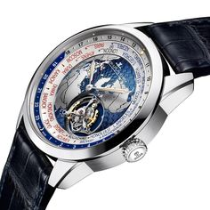 A world-time function and a flying tourbillon in the same watch - yes, you need to have a closer look at the new Jaeger-LeCoultre Geophysic.   Get all details and more pictures here:  http://www.watchtime.com/wristwatch-industry-news/watches/jaeger-lecoultre-geophysic-collection-expands-with-tourbillon-universal-time-watch/ #ElectronicsStore