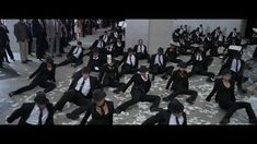 Step Up 4 : Revolution 'The Office MOB' Dance. I've never seen this movie, but this dance number, and the music it is set to, is AWESOME!  The first track is Ants, by edIT (of The Glitch Mob), but I'm not sure what the second track is.