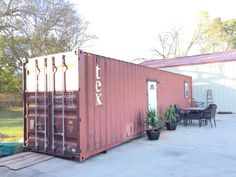Custom Container Home - Tiny House for Sale in null, Texas - Tiny House Listings Metal Storage Containers, Storage Container Homes, Crate Storage, Shipping Container Homes, Shipping Containers, Container Houses, Container Home Designs, Tiny House Listings, Tiny House Plans