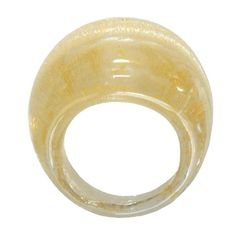 BOMBETTO • silver-leaf or gold-leaf • murano glass rings