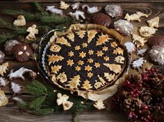 Poppy seed Christmas cake and gingerbreads Camembert Cheese, Gingerbread, Seeds, Pie, Cookies, Christmas, Recipes, Food, Poppy