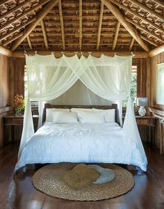 Canopy beds are so damn gorgeous. I had one but I never bought curtains for it and I REGRET IT. Now we have a King mattress and the bed is a queen and I want another onnnnnnne! Master Bedroom Design, Bedroom Bed, Dream Bedroom, Bedroom Decor, Bed Curtains, Canopy Beds, Canopies, Dreams Beds, Safari