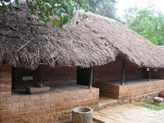 drawings of huts | Or Sketches and drawings of thatched huts or Huts in an Indian village ...