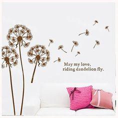 Dandelion Pattern Self-Adhesive Wall Sticker