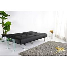 @Overstock   This Multifunctional Futon Sofa Bed Easily Converts With A  Click Clack Mechanism