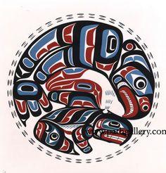 Hunt, Eugene 'Thunderbird & Killer Whale' - Native Art