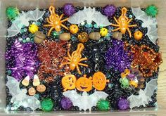 Nurturing Naters with learning activities at home: 2011 Halloween Sensory tub, Halloween sensory bin