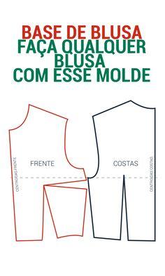 FAÇA SEUS MOLDES SIMPLES E MUITO FÁCIL ! MOLDE BASE BLUSA; MAKE YOUR SIMPLE MOLDS AND VERY EASY. molde de saia , dicas de costura, molde de graça, #modelagem, #moldes #costura #dicasdecostura #cusrodemodelagem #molde #dicasdemoda #dicasdemodelagem #moldefeminino #moldesfree #moldedegraça #façavocemesmo #summer #vestidoverão #modaverão #verão2018