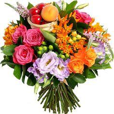 bouquet de fleurs garni