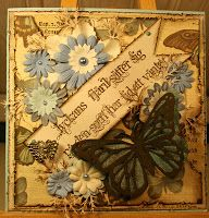 A card by DT Marja  http://blog.pysseldags.com/2011/12/lyckans-fjaril.html http://shop.pysseldags.se