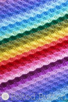 13 more rainbow #crochet patterns - blanket by @feltedbutton