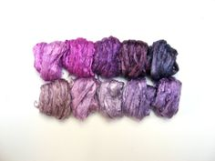 3.2oz 90g 10 Assorted Colors Mulberry Silk by RealfaerySupplies