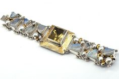 Firenze - the silver bracelet with moonstone, citrine and pearls