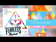 The Summer Set -  Legendary... SONG OF THE WEEK!! I know it's a day late guys, and I'm sorry! This song is amazing, though. I just discovered this band last Saturday and nice then I've bought their entire album. This song is about letting go of what you're worried about and dwelling on and being the best version of yourself that you can be. They're trying to tell you that each and every person out there is legendary to someone or something and you should all remember that.