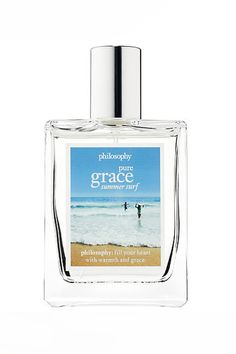Shop Pure Grace Summer Surf Eau de Toilette by philosophy at Sephora. This fragrance is inspired by summer with notes of sea spray, tiare, and musk. Perfume Genius, Best Perfume, Perfume Store, Perfume Oils, New Fragrances, Fragrance Parfum, Sephora, Celebrity Perfume, Eau De Toilette