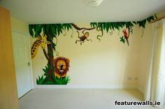 Baby Nursery ~ Murals For Baby Girl Nursery Wall Drawing And Walls Tree Decals murals for baby girl nursery. Murals For Baby Girl Nursery. Wall Murals For Baby Girl Nursery. Murals For Baby Girl Room. Jungle Baby Room, Jungle Bedroom, Nursery Room, Jungle Nursery, Kids Room Murals, Murals For Kids, Wall Murals, Kids Rooms, Nursery Murals