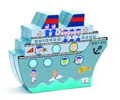 משחק קופסה מבית djeco- צוללות,השחקן אמור לגלות את מיקום האוניות על ידי שאלות נבנות