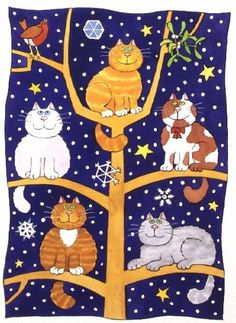 """Five Christmas Cats"" by Cathy Baxter"