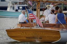 Stern Shot of the authentic 1926 family yacht Sail Selina II, St Michaels MD
