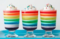 *I never thought to put the 7 layer jello in cups. Genius!