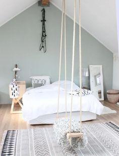 Most Inspirational Teen Girl Bedroom You Need To Know – Home Dekor Bedroom Loft, Home Bedroom, Girls Bedroom, Bedroom Decor, Bedroom Ideas, Swing In Bedroom, Bedroom Retreat, Bedroom Furniture, Wall Colors For Bedroom