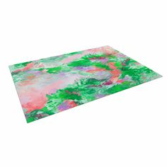 "Ebi Emporium ""When We Were Mermids 4"" Green Pink Indoor / Outdoor Floor Mat"