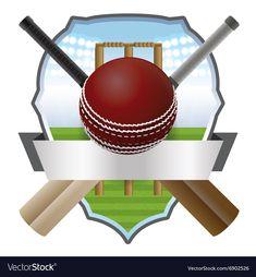 Cricket Badge vector image on VectorStock Cricket Logo Design, Team Logo Design, Cricket Bat, Cricket Sport, Cricket Wicket, Ms Dhoni Wallpapers, Calendar Design Template, Bat Symbol, Cricket Wallpapers
