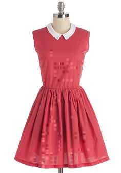 Happy to Hep Dress. A lover of midcentury-inspired styles, you couldn't be more pleased to don this 50s-era fit-and-flare dress! #red #modcloth