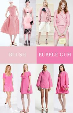 Resort 2014 Key Color Trends by Trend Council