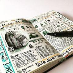 Bullet journal notes, sketch journal, sketch notes, wreck this journal, cre Notebook Art, Notebook Sketches, Sketch Journal, Sketchbook Pages, My Journal, Journal Pages, Travel Sketchbook, Sketch Books, Journal Ideas