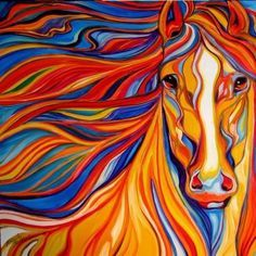 colorful wild animal paintings - Google Search