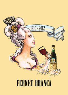 Afiche Fernet Branca Dama ~ Argentine theme once again :) Vintage Wine, Vintage Labels, Vintage Ads, Vintage Advertising Posters, Vintage Advertisements, Vintage Posters, Wine Poster, Italian Posters, Wine Design