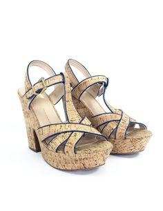 Sandales plateforme en liège - Neuves