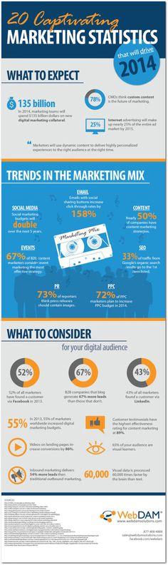 As 20 estatísticas fundamentais para as estratégias de marketing digital em 2014