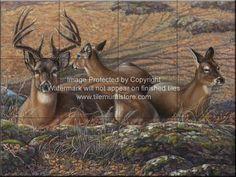 Backsplash design ideas - Wildlife tiles - Bed of Leaves - CM ...
