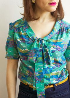 Tilly and the Buttons: Liberty Pussy Bow Mimi Blouse