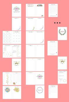 DIY Organizer 2017 do pobrania - planer pdf do druku | Piafka Weight Loss Cleanse, Bullet Journal, Organization, Diy, Cleaning, Random, Crafts, Getting Organized, Organisation