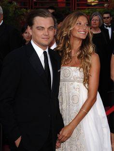 gisele bündchen dress with leonardo dicaprio   Gisele Bundchen and Leonardo DiCaprio - 77th Annual Academy Awards