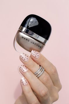 Rose Gold Polka Dot Nails with Marc Jacobs Gatsby. Click through for how-to. #nailart #marcbeauty #rosegold