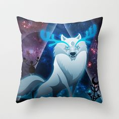 The wonder wolf Throw Pillow by Vera Moire