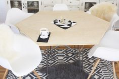 Assemble a hexagon dining table. | 33 DIYs For The Classiest Person You Know