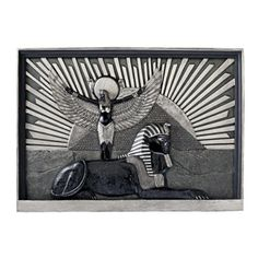 Bring the past into your present with the Design Toscano Icons Of The Egyptian Realm Wall Sculpture . This piece symbolizes the power and majesty of. Egyptian Temple, Egyptian Kings, Starburst Wall Decor, Metal Wall Decor, Triptych, Cool Walls, Wall Sculptures, Wall Plaques, Metal Walls