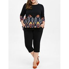 SHARE & Get it FREE   Plus Size Printed High Low Swing Top With PantsFor Fashion Lovers only:80,000+ Items·FREE SHIPPING Join Dresslily: Get YOUR $50 NOW!