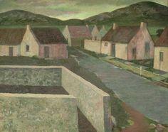 """""""Irish Village,"""" Richard Haines, 1975, oil on canvas, 24 x 30"""", Sullivan Goss."""