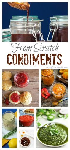 16 Favorite From Scratch Condiments - food hacks Sauce Recipes, Real Food Recipes, Cooking Recipes, Yummy Food, Cooking Hacks, Vegan Recipes, Homemade Seasonings, Homemade Sauce, Chutney