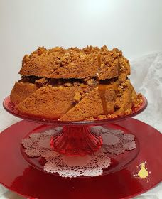 PATYCO - CANDYBAR : Biscoff Lotus Crumble Toffee Bundt Cake Tostadas, Biscoff, Bundt Cakes, Relleno, Toffee, Lotus, Baking, Sunflower Oil, Almonds