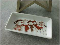 ... De bonhommes de neige!!!! Ils m'ont fait craquer avec leurs bouilles toutes rondes! Peinture sur porcelaine, dessin trouvé sur le...
